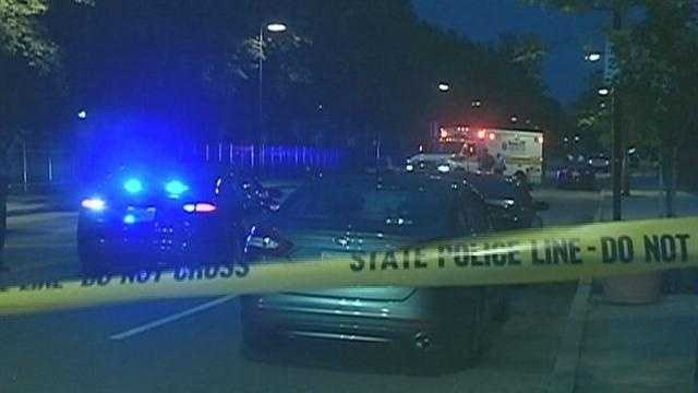 Security guard fires gun at car leaving crash