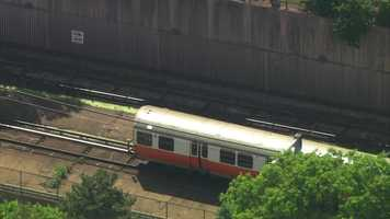 The MBTA said shuttle buses were replacing Orange Line service at Roxbury Crossing, Jackson Square, Stony Brook, Green St. and the Forest Hills Station.