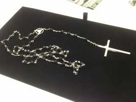 These are John F. Kennedy's rosary beads.