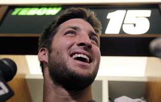 The Broncos traded Tim Tebow to the New York Jets after the 2011 season.  He was released on April 29, 2013.
