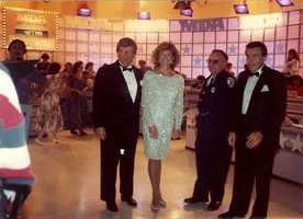 Chet Curtis and Natalie Jacobson (on the left) host an MDA telethon.