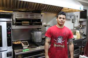 Ronny Alfaro cooked Obama's patty.