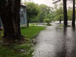 A view of River Street in Natick along the Charles River.