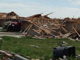 In Shawnee, Okla., the teams also saw a massive number of homes damaged or destroyed.
