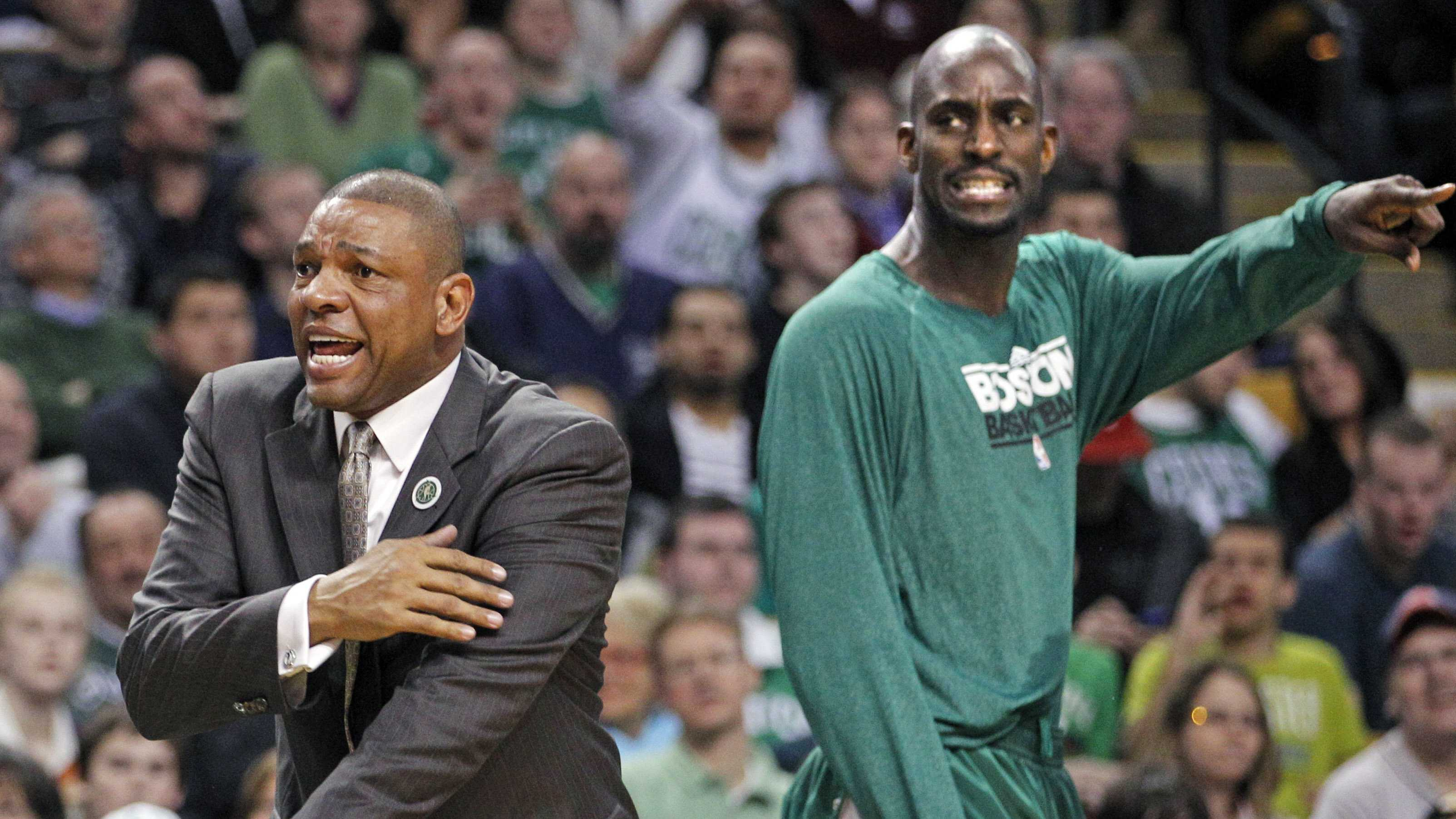 Doc Rivers with Kevin Garnett