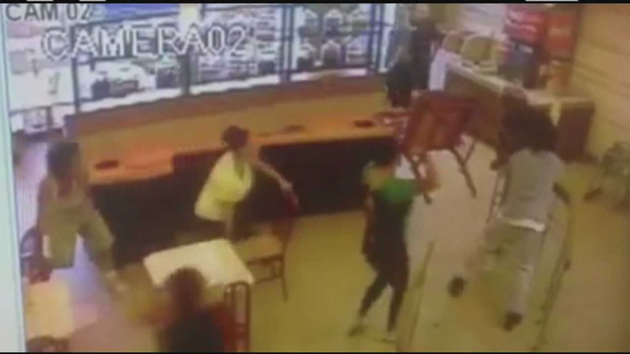 Fists, chairs fly in restaurant brawl
