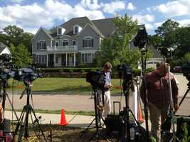 The media was been camped out at Hernandez home in North Attleborough for days.