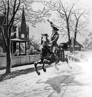 In December 1774, Paul Revere rode to Portsmouth to warn the people that the British were heading towards Fort William and Mary, in a journey commonly known as the Portsmouth Alarm.