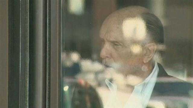 Robert Duvall at courthouse