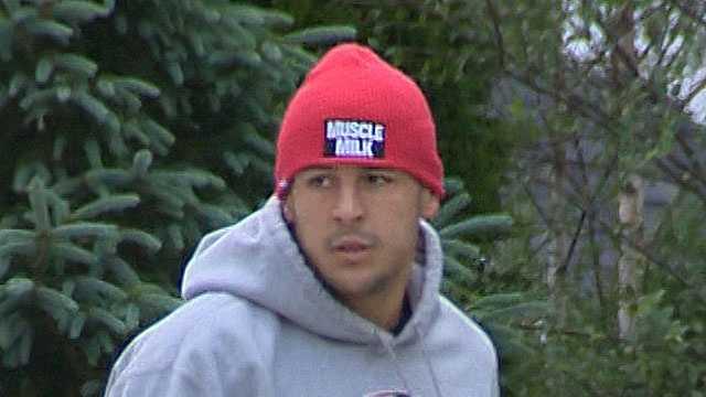Aaron Hernandez MUSCLE MILK hat