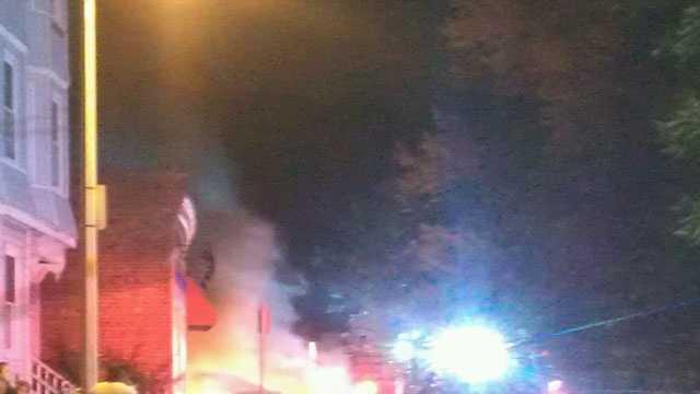 Dorchester car fire