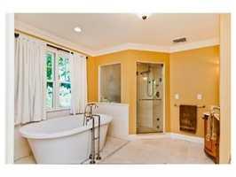 A large soaking tub.