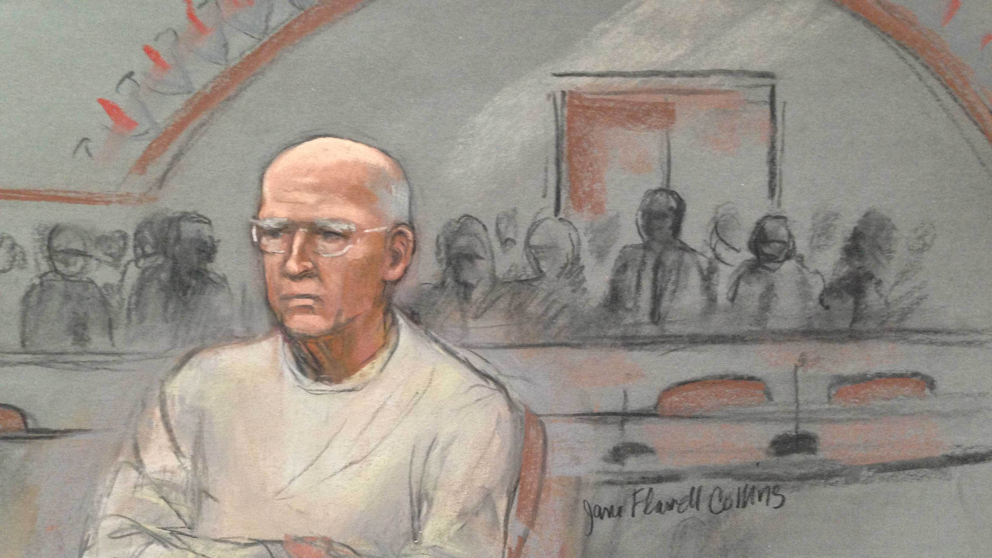 Bulger Sketch  Bulger sits wider view 070113.JPG