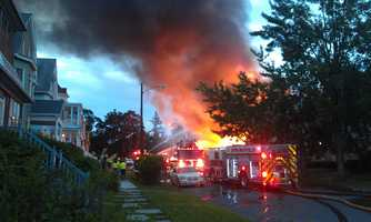 The fire broke out about 4:45 a.m. on Chase Avenue.