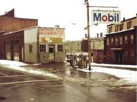 Tom Cirignano's South Boston neighborhood in the 1980s. His father's gas station, Emerson Auto Service Corp., where he spent many years working, is shown on the corner of East Third Street.