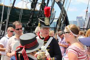Members on board learn about some of the history of the USS Constitution and its role in U.S. history.