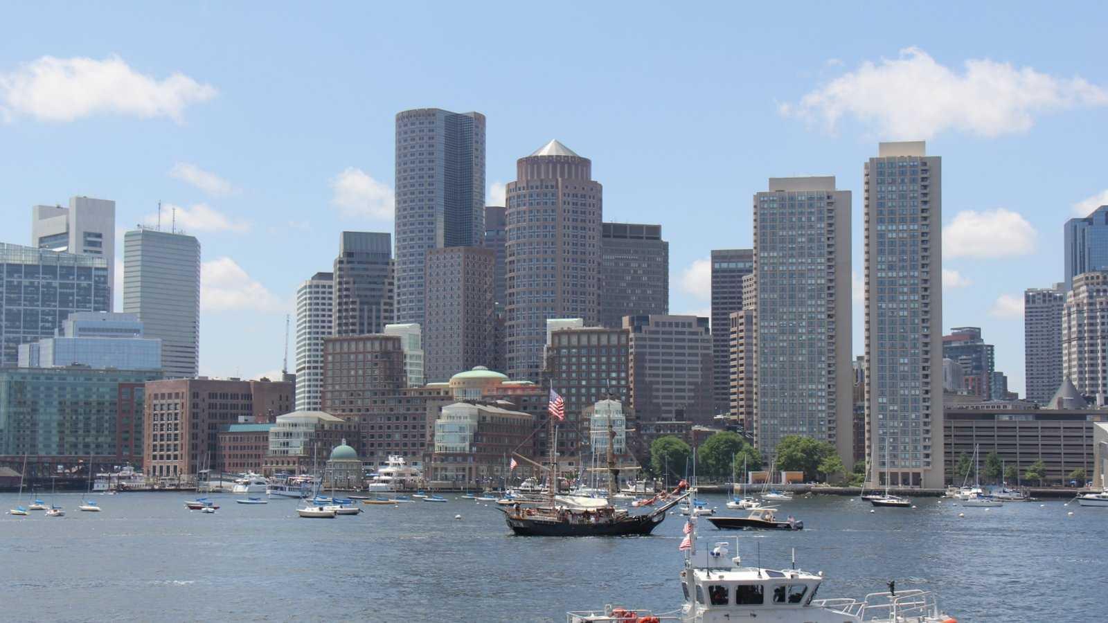 City of Boston with Coast Guard Boat 070413