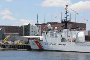 An additional 17-gun salute was held near the U.S. Coast Guard Base in Boston.