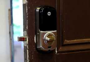 The system also allows a user toset upa one-time use security code - to let someone inside - like a neighbor or relative.