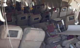 These photos from inside the plane were released on their Twitter account.