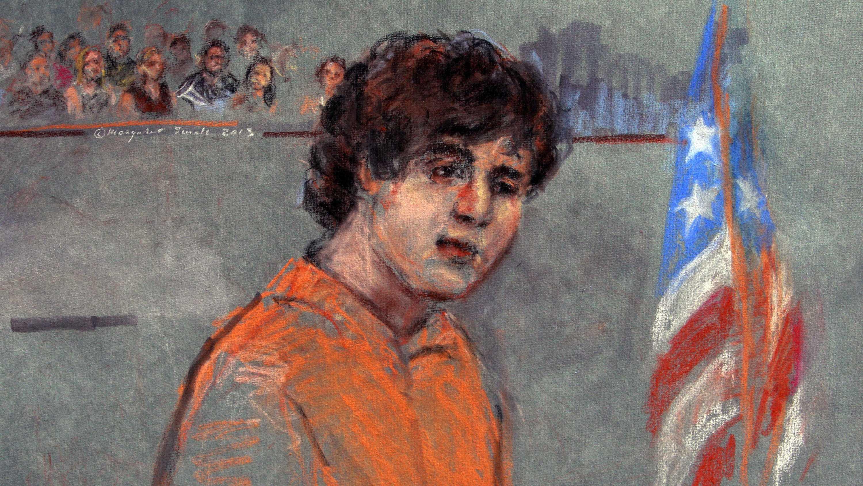 Tsarnaev in Court Sketch071013