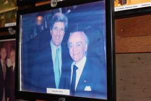 Anthony Athanas and Senator John Kerry when he visited the restaurant