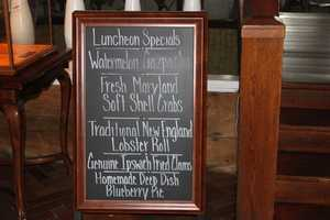 Typical luncheon specials at Anthony's Pier 4