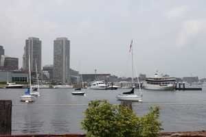The Seaport District attracts many tourists in Boston