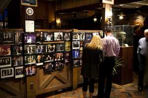 Many people enjoyed looking at the pictures that hung on the walls of celebrities and public figures who had been to the restaurant