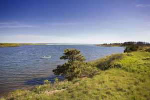 A 314-acre oceanfront property on the south shore of Martha's Vineyard, known as Homer's Pond, has been listed for sale.