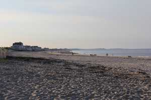 Others along the coast are wide and feature miles and miles of soft sand, such as the beach pictured here in Marshfield.