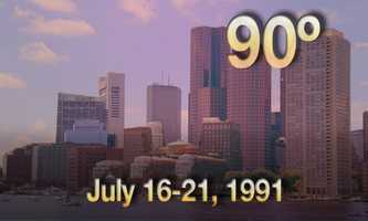 09) July 16-21, 1991 - the city experienced a heat wave of six days.