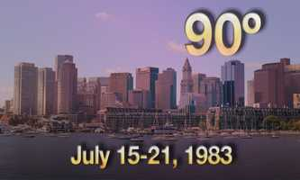 07) July 15-21, 1983 - Beantown was struck with seven days of extreme heat.