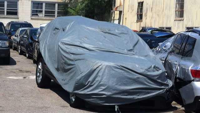 Morrissey SUV after crash