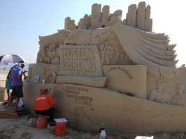 The National Sand Sculpting festival is being held on Revere Beach.