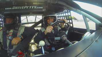 Full throttle at Loudon might be 145 mph.  Watch Chronicle Thursday night at 7:30 pm. to see just how fast JC went.  Hint:  She did pass the century mark.