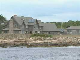 The tour passes the Bush Compound in Kennebunkport.