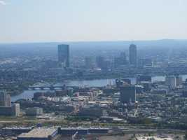 Boston skyline with a view of the Longfellow Bridge