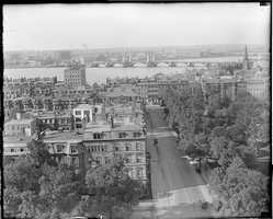 View of the Charles River and the Longfellow bridge from the Ritz-Carlton in 1930