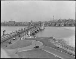 "View of the Longfellow, or ""Salt and Pepper,"" Bridge in 1923"