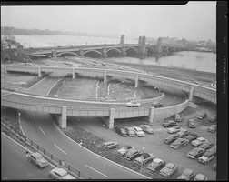 Storrow Drive and new ramps at the Longfellow Bridge in 1952