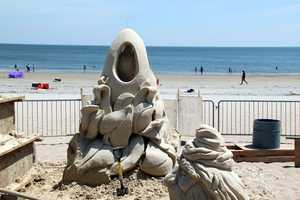Gordon has been sand sculpting for 39 years.