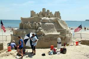 The 10th Annual Revere Beach National Sand Sculpting Festival is underway.