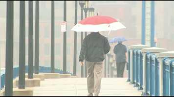 Umbrellas were a must.