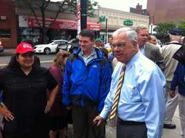 Mayor Tom Menino meets with residents in South Boston.