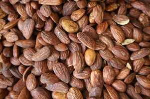 and nuts such as walnuts, almonds, cashews and pistachios.