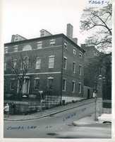 View of Harrison Gray Otis House from Cambridge Street in September 1954.