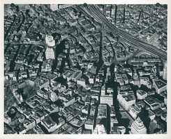 Aerial view of West End circa 1958