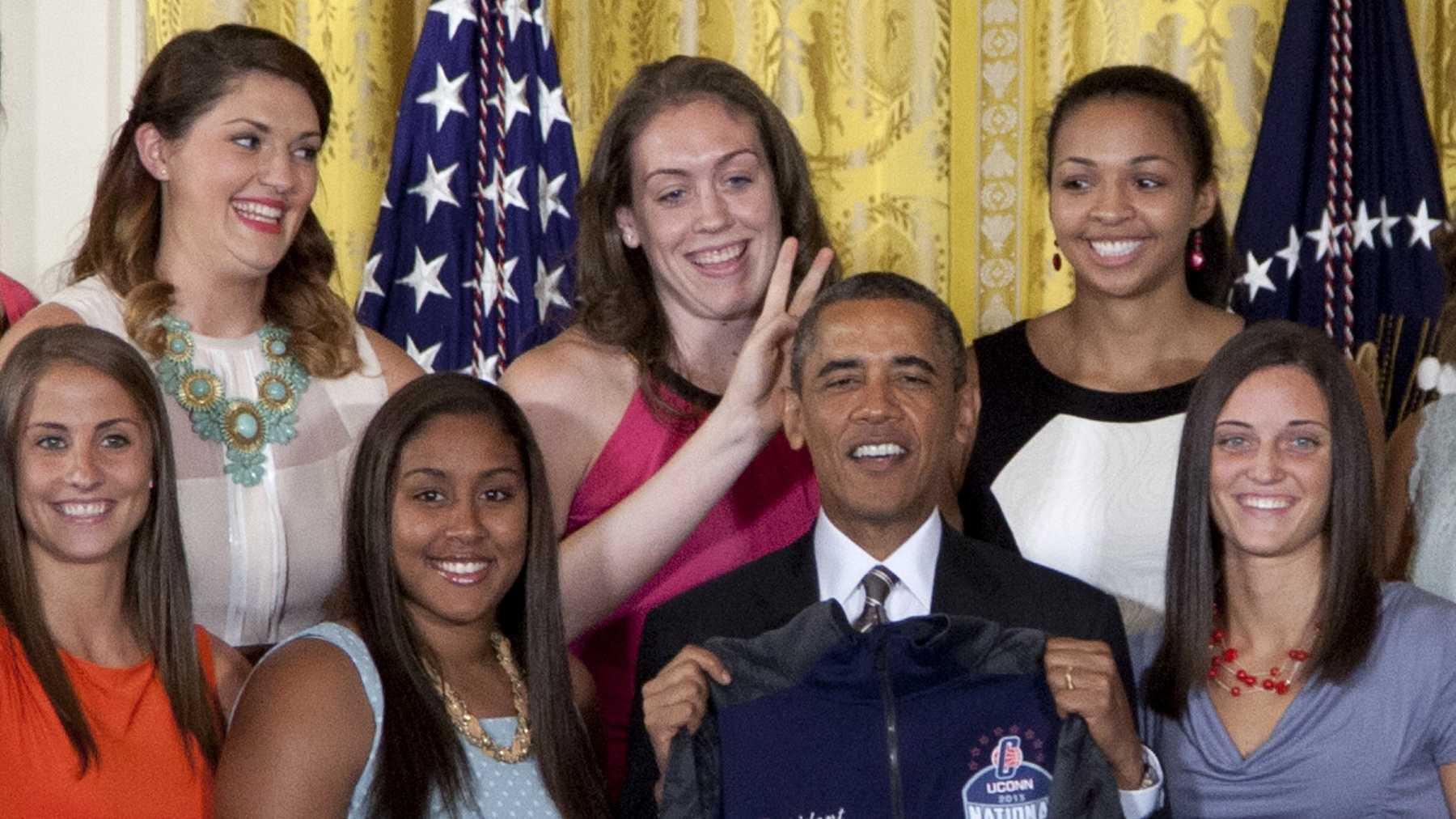 UConn with Obama