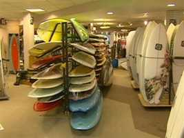 West coast kids, here for college, are often amazed to find east coast surfing.